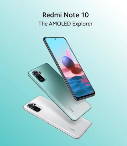 Redmi Note 10 Phone options