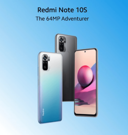 Redmi Note 10S in different color variants